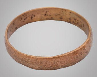 Authentic Ancient Viking  wedding Ring Band  C.866-1067AD. Size 12    (21.7mm)(BRR736)