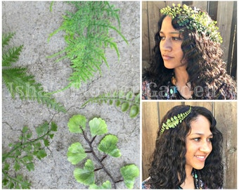 Realistic Fern hair comb, fern accessory, woodland hair accessory, forest hair