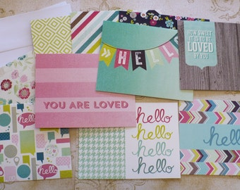 Create / Make your own Cards Prints Folding Cardstock Cards with White Envelopes