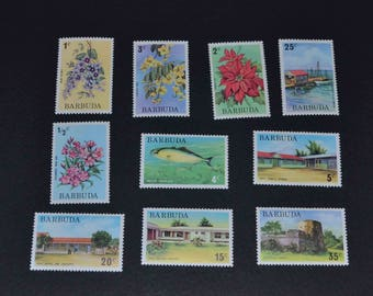 Barbuda British colony 10 mint stamps