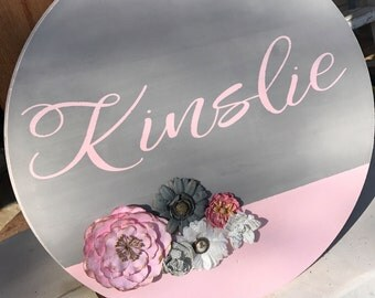 Personalized Round Wood Sign Nursery