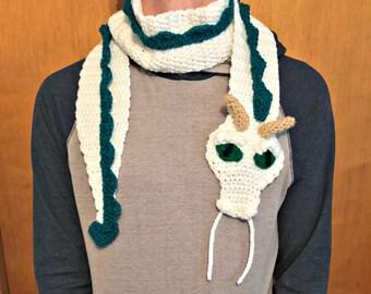 Crochet Haku Dragon Scarf, Spirited Away, Dragon Scarf, Anime Dragon, Custom Dragon Colors, YOU CHOOSE COLORS