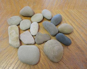 15 Beach Rocks Stone Crafts Paint a Rock Lake Michigan Smooth Rocks