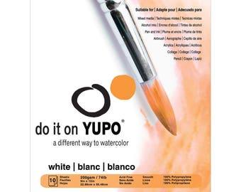 """Yupo Paper 9""""X12"""" 10 White Sheets/Pkg"""