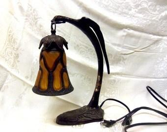 Art Nouveau Cast Iron Table Lamp