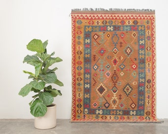 TULON 5x6.5 Hand Woven Turkish Wool Rug