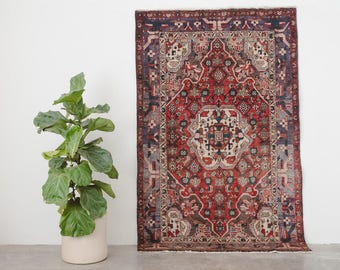 AREF 4x6.5 Hand Knotted Persian Wool Rug