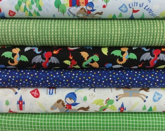 Castles and Dragon Bundle from Timeless Treasures - 7 Fabrics
