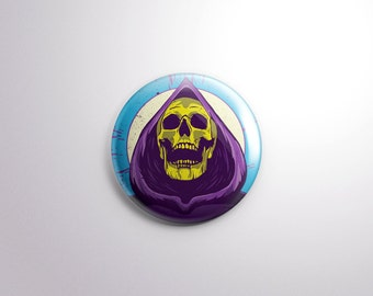 Skeletor Pin Back Button - 1.25 Inch - He-Man - Masters of the Universe