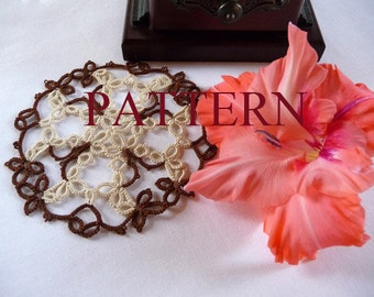 "Tatting pattern - Round doily ""Maltese cross"" - tutorial - handmade - PDF pattern - download PDF - OOAK - instant download  - for needlework"