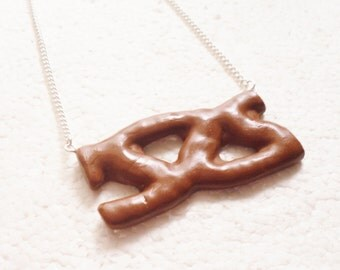 Curly Wurly Necklace.  Polymer clay.