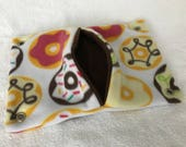 """9""""x14"""" Pocket Hammock for Pet Rats, Sugar Gliders - All Fleece Iced Donuts with Chocolate Brown Interior - Won't Fray When Chewed!"""