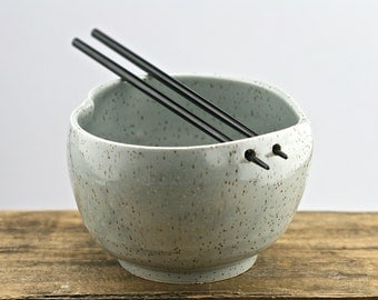 Grey heart shaped chopstick bowl, ramen, udon, rustic minimal kitchen, handmade pottery.