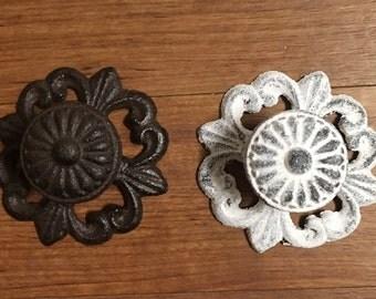Vintage style drawer knob • cast iron coat hook  • jewelry hooks