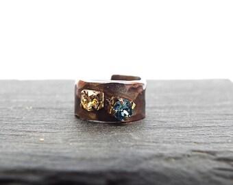 Rhinestone Ear Cuff - Inspiration Jewelry - Personalized Jewelry - Ear Cuff No Piercing - No Pierced Ear Cuff - Bohemian Ear Cuff