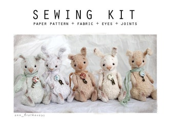 SEWING KIT for sewing mini toy like Bunny 5 inch