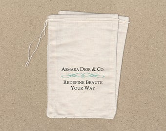 RESERVED Fabric Drawstring Bags - Set of 50 4x6 Bags