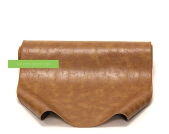 "Coffee Brown Leather Table Runner - 14"" x 108"""