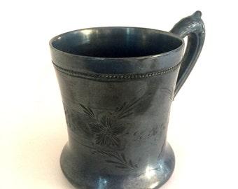 Antique metal mug / cup
