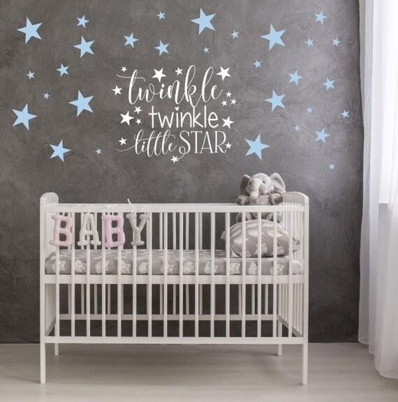 Wonderful Twinkle Twinkle Little Star Nursery Decor | Star Wall Decals | Twinkle  Twinkle Nursery Wall Decal Part 31