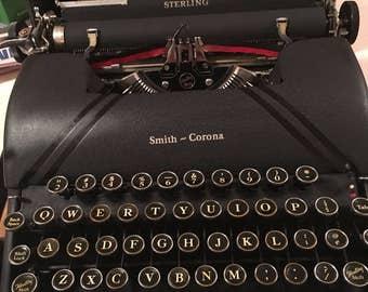 SMITH CORONA STERLING Typewriter 1940s