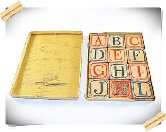 Embossed Alphabet Blocks