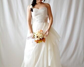 Boho wedding dress, Rustic wedding dress, Bohemian wedding dress, Beach wedding dress, Silk wedding dress, Fairy wedding dress, Bridal dress