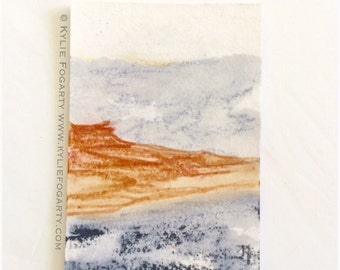 ACEO original Mixed Media Painting - Beach Art - by Kylie Fogarty