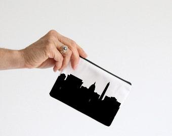 Washington DC City Clutch Purse - 4x6 - Skyline Silhouette - Lipstick Coin Purse