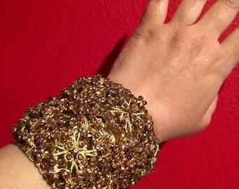 Golden goddess cuff