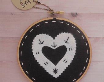 Love Embroidery Hoop Art, Black and White Nursery Wall Art Nursery Decor, Baby Room, Baby Shower Gift, New Mom Gift, Last One Left!