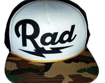 Rad Radical Bolt Camouflage  3-24 months Baby Infant Child Mesh Trucker Hat Cap Snapback