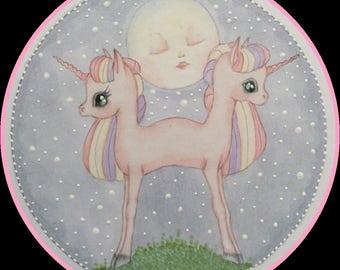 Original art unicorns lowbrow fantasy art