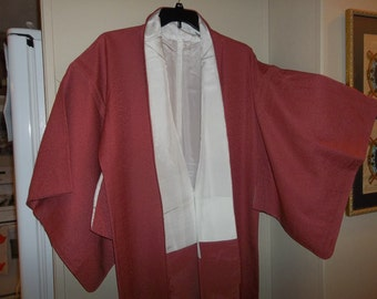 Vintage Japanese Silk Wedding Kimono..Rose / Pink / Mauve Color..New Old Stock..1970Era..Perfect Condition
