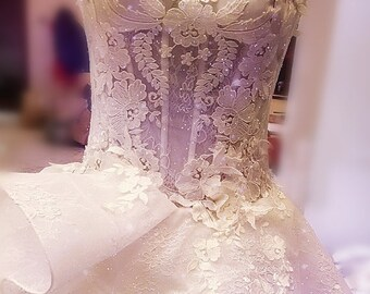 lace applique,tulle lace applique, embroidered lace applique, bodice lace applique, lace bodice