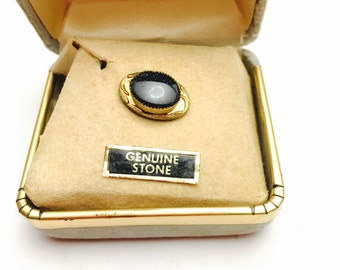 Vintage stone tie pin Gold Tone, Masculine Gift, mint condition, Clearance Sale, Item No. M003