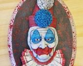 Pogo the Clown Wall Hanging Sculpture Plaque