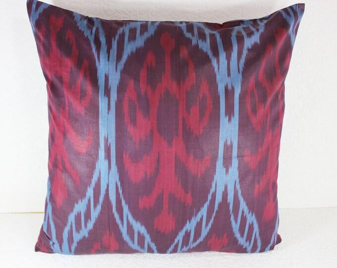 Cotton Ikat Pillow, Ikat Pillow Cover,  C149, Ikat throw pillows, Designer pillows, Decorative pillows, Accent pillows