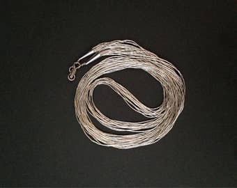 Liquid silver 10 strand sterling silver necklace