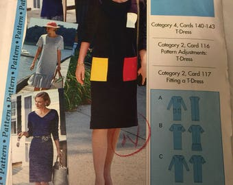 Pullover dress, T-Dress, sewing pattern,  Size 4-22