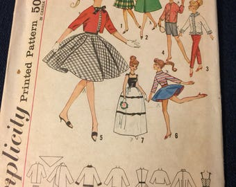Simplicity  4700,  Barbie clothes, sewing pattern,