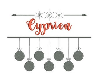 Instant download name frame snowflake for Christmas machine embroidery design