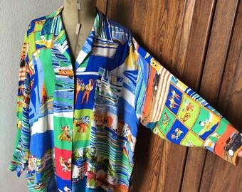 Vintage Sportmax silk shirt blouse