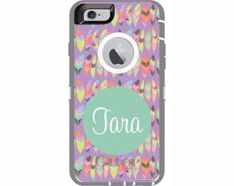 Personalized iPhone 6 & iPhone 6s Feather Otterbox Defender Phone Case | Custom Phone Cases