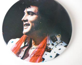 Vintage Elvis Presley button