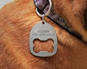 15% OFF SALE Personalized Dog Collar ID Tag Bottle Opener