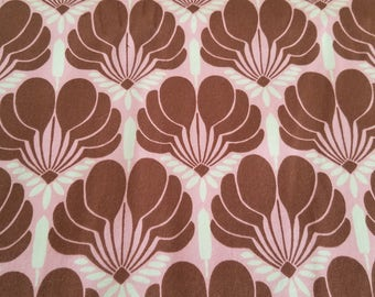 Amy Butler Pink and Brown Floral Cotton Fabric