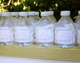 SAFARI Bottle Wraps- Safari Party by Bloom
