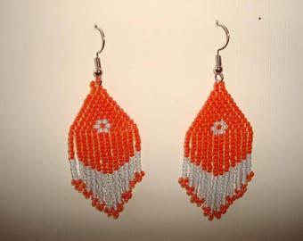 Handcrafted beaded earrings