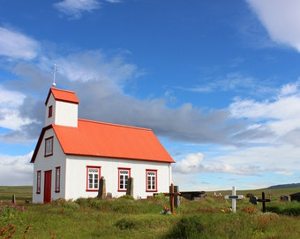 Icelandic Charm, Country Church, Cemetery